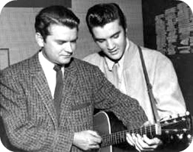 Sam Phillips & Elvis Presley at Sun Records
